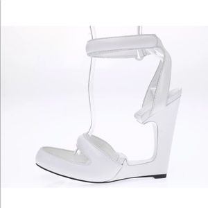 ALEXANDER WANG white leather wedge size 38